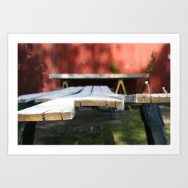Reclaiming Wood Art Print