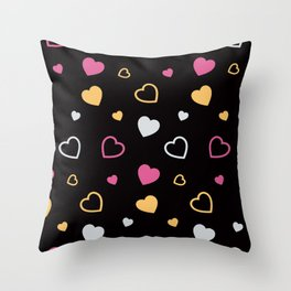 Stylized hearts pattern 3 Throw Pillow