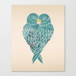 Love Birds (Blue) Canvas Print