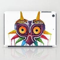 majoras mask iPad Cases featuring majoras mask by Haily Melendez