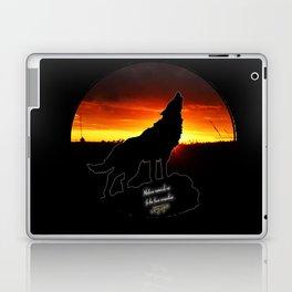 Stay Gold Lone Wolf Laptop & iPad Skin