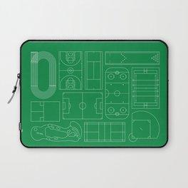 Sport Courts Pattern Art Laptop Sleeve
