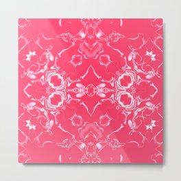 Infra Red Kaleidoscope Pattern #4 Metal Print