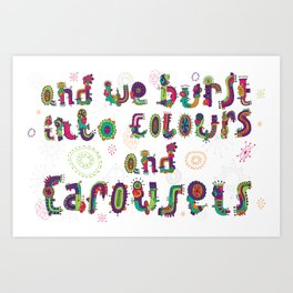 Colours and Carousels Art Print