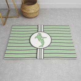 Green Orca Stripes Pattern Design Rug