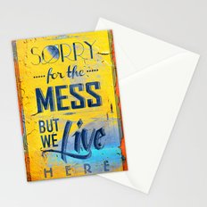 Sorry for the Mess 2 Stationery Cards