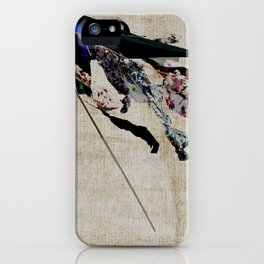 clothes in the wind iPhone Case