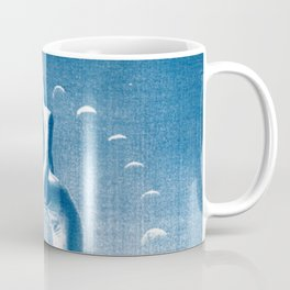Ballerina and the Moon Phase, Ballet, Ballet Art, Blue Print, Ballet Print, Ballet Dancer Coffee Mug