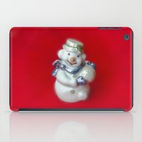 snowman iPad Cases featuring Snowman  by Svetlana Korneliuk