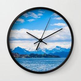 Endless Lake Lucerne Wall Clock
