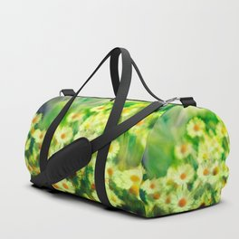"""Spring of daisies, green and sunlight"" Duffle Bag"