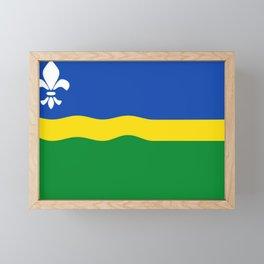 Flag of Flevoland Framed Mini Art Print