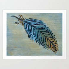 Tri-Color Feather Art Print