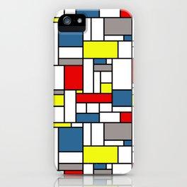 Mondrian style pattern iPhone Case