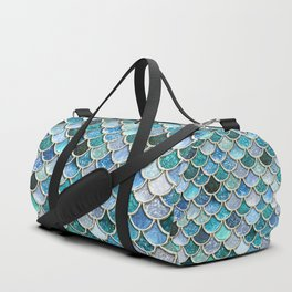 Multicolor Aqua Mermaid Scales - Beautiful Abstract Glitter Pattern Duffle Bag