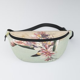 Turtle and bouquet Fanny Pack
