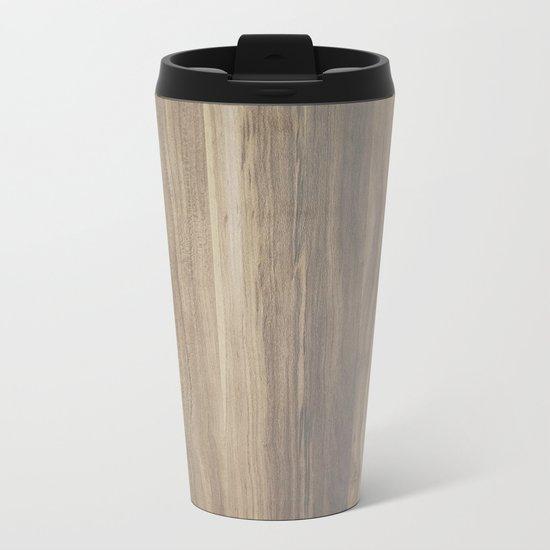 Wood  Metal Travel Mug