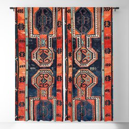 Davagin  Antique Daghestan East Caucasus Kilim Print Blackout Curtain