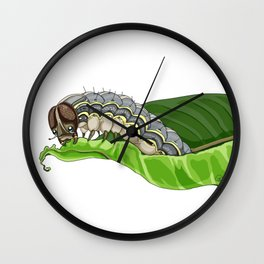 The Smol Hungry Caterpillar (Armyworm) Wall Clock