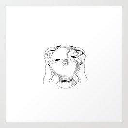 My crystal ball says Art Print
