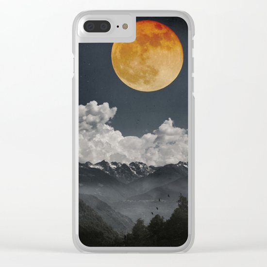Moon Melodies Clear iPhone Case