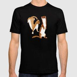 Funny Weasel ( Mustela nivalis ) T-shirt