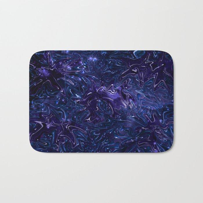 The Wolves Hidden in the Sapphire Blue Galaxy Bath Mat