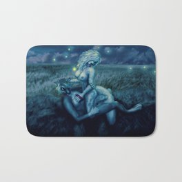 Let's Play With Fireflies (NSFW)  Bath Mat