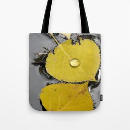 Aspen Leaves in Pond Tote Bag