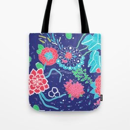 Flowers and Cactus Tote Bag