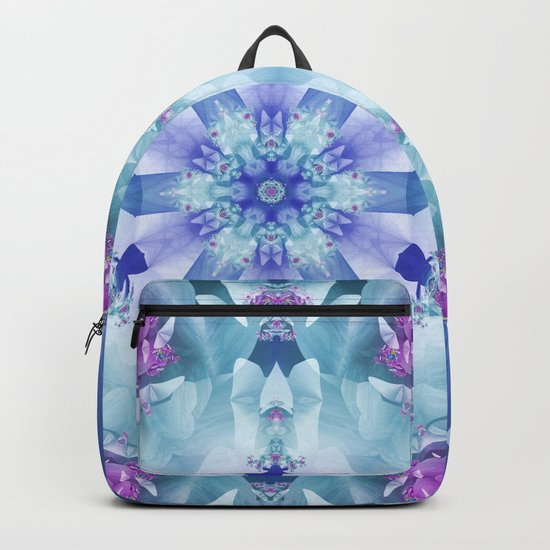 Royal Blue and Purple Mandala Backpack