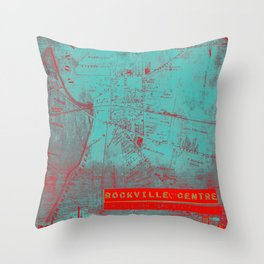 Rockville Center NY State of Mind Throw Pillow