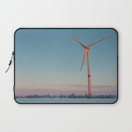 Wind Turbine at dawn Laptop Sleeve