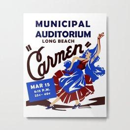 Carmen Long Beach Metal Print