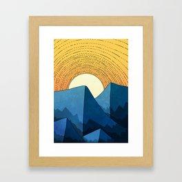 Blue summer mountains Framed Art Print