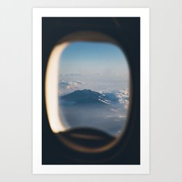 I'll take a window seat, please Art Print