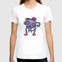 fez T-shirts featuring Zombie Monkey by John Schwegel