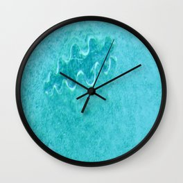 Giant clam visible under the blue clear water of a lagoon in Rarotonga Wall Clock