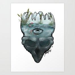 Mental Lakes Art Print