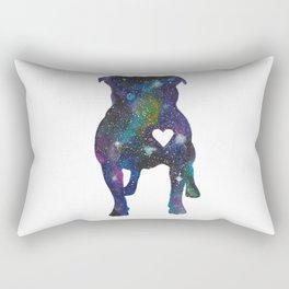 Galaxy Pit Bull Rectangular Pillow