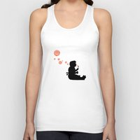 banksy Tank Tops featuring Banksy Bubbles by DomaDART