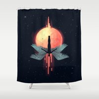 mythology Shower Curtains featuring Icarus by Freeminds