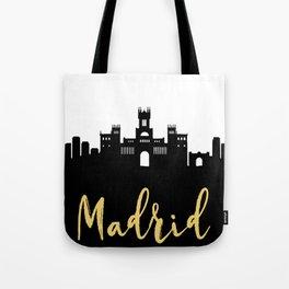 MADRID SPAIN DESIGNER SILHOUETTE SKYLINE ART Tote Bag