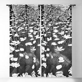 Escher- Three Worlds Blackout Curtain