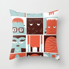 The Monster Club Throw Pillow