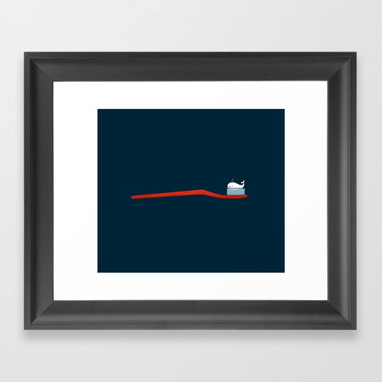 Whale Paste Framed Art Print