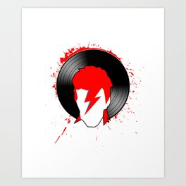 Ziggy - Bowie (Spiders from Mars) Tribute Art Print