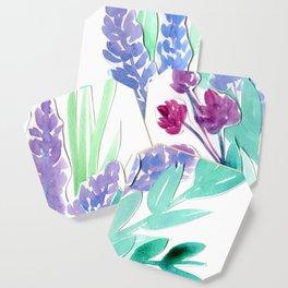 Lavender Floral Watercolor Bouquet Coaster