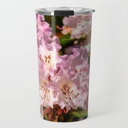 Pink Rhododendrons Travel Mug