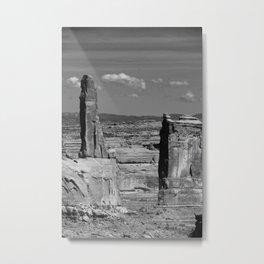 Arches Park Landscape View Metal Print